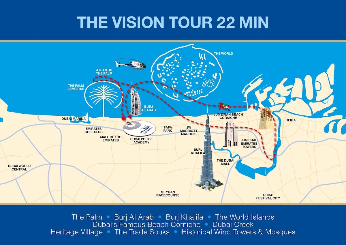 Vision Helicopter Tour, 22 minutes, Dubai